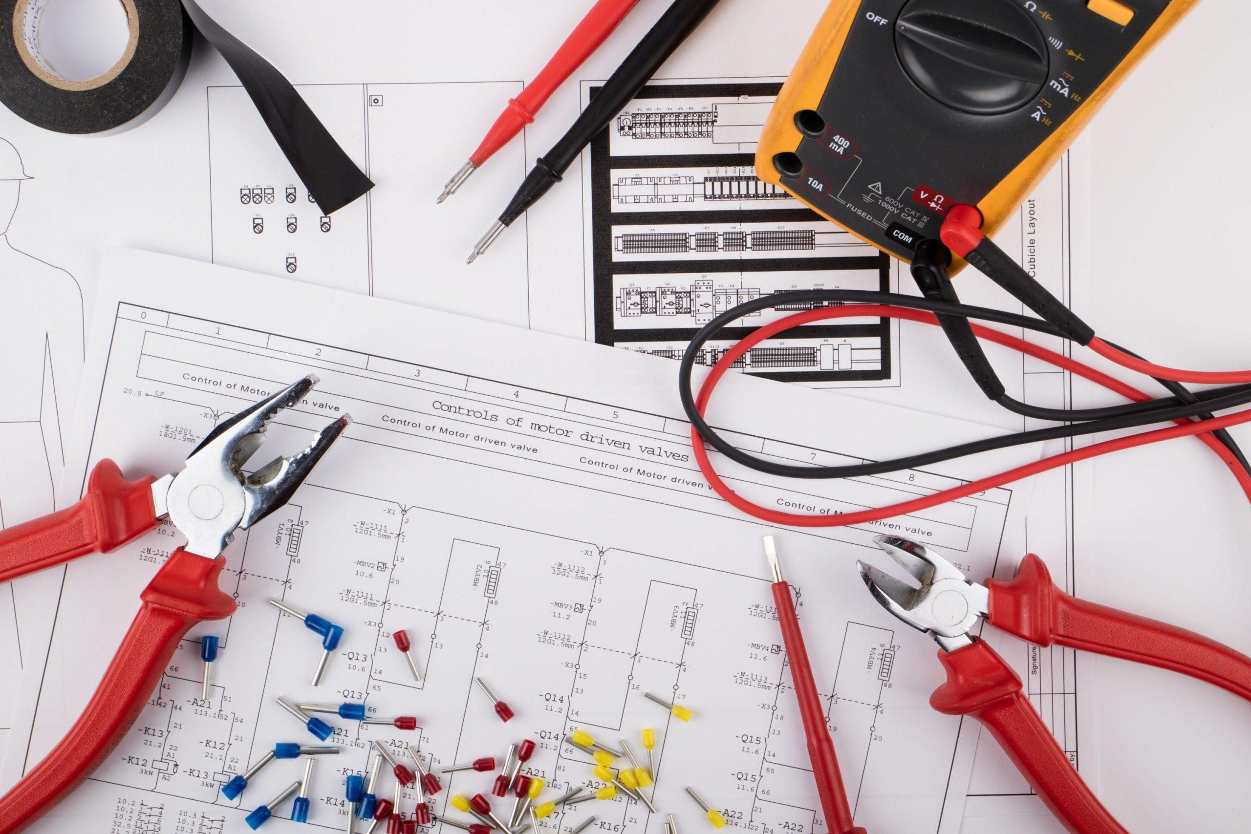 electricien plan schema electrique